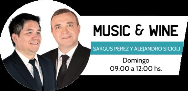 Music & Wine programa de la radio Urbana de la República del Paraguay.