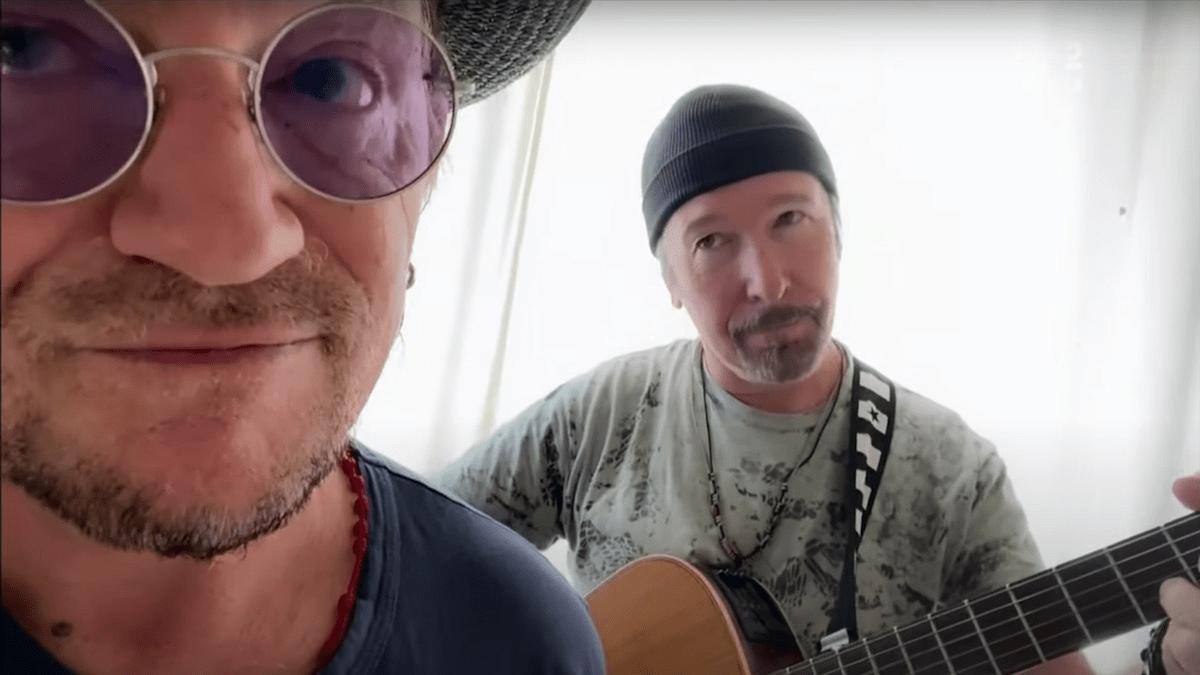 Bono y The Edge versionan a Led Zeppelin en cuarentena - Urbana ...